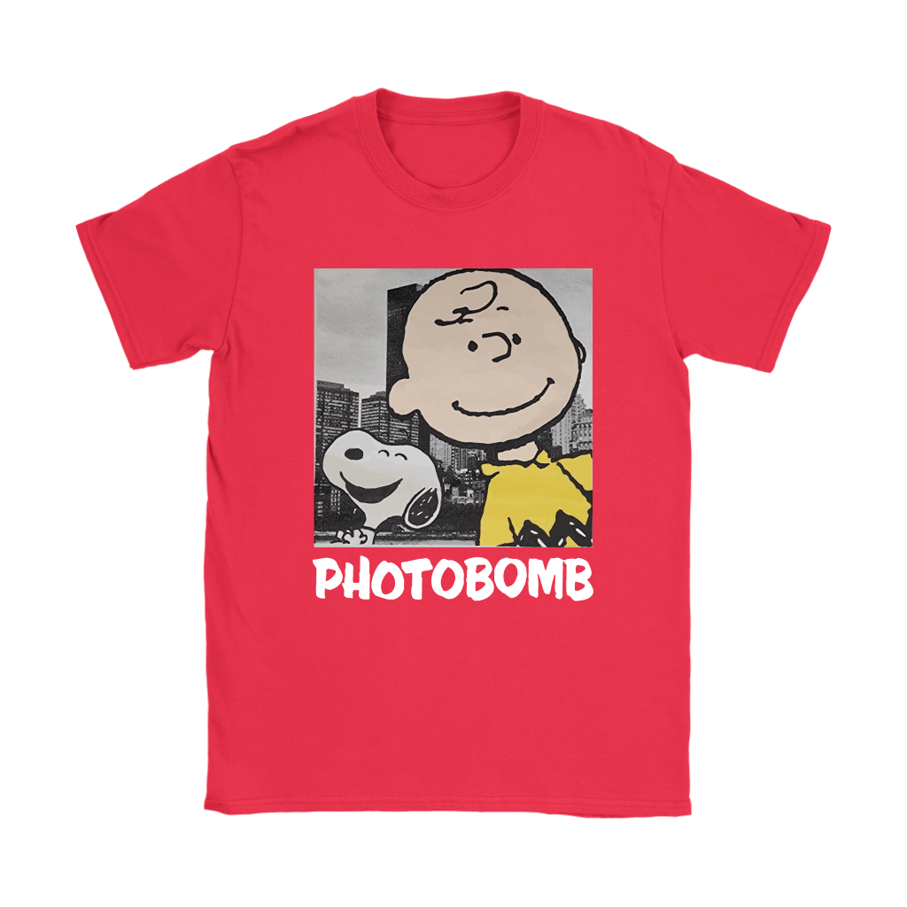 Selfie Photobomb Charlie Brown And Snoopy Shirts 12