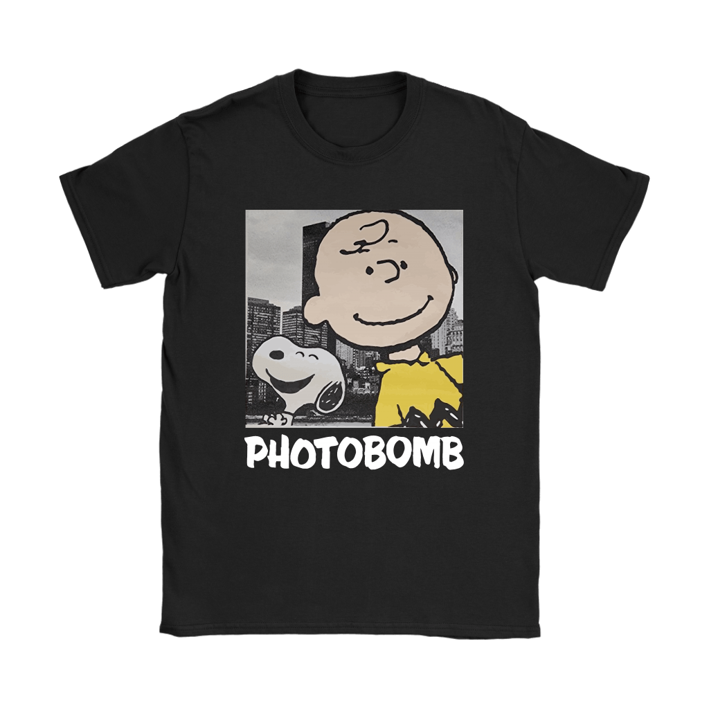 Selfie Photobomb Charlie Brown And Snoopy Shirts 8
