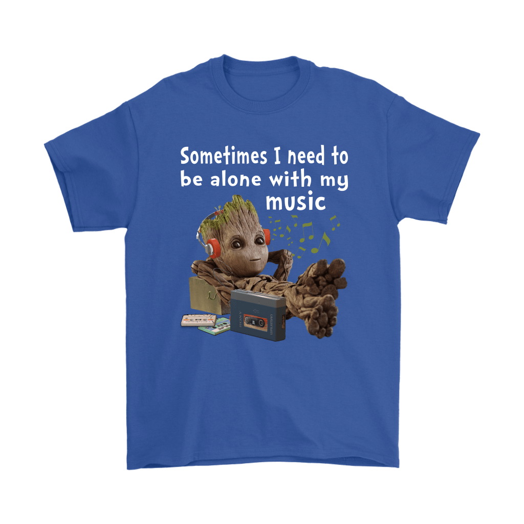 Sometimes I Need To Be Alone With My Music Baby Groot Shirts 4