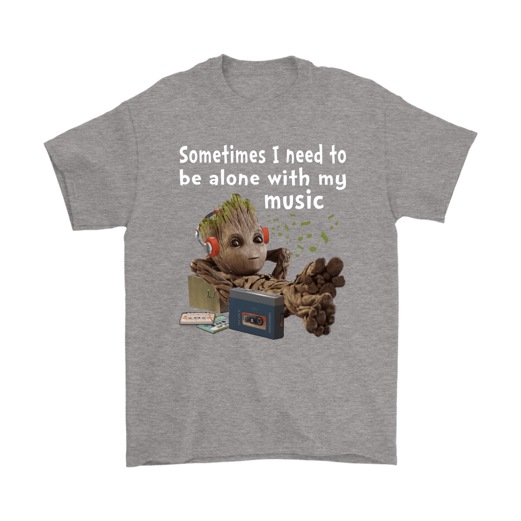 Sometimes I Need To Be Alone With My Music Baby Groot Shirts 5
