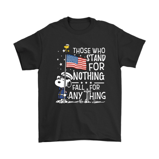Stand For Nothing Fall For Anything U.S. Veteran Snoopy Shirts 1