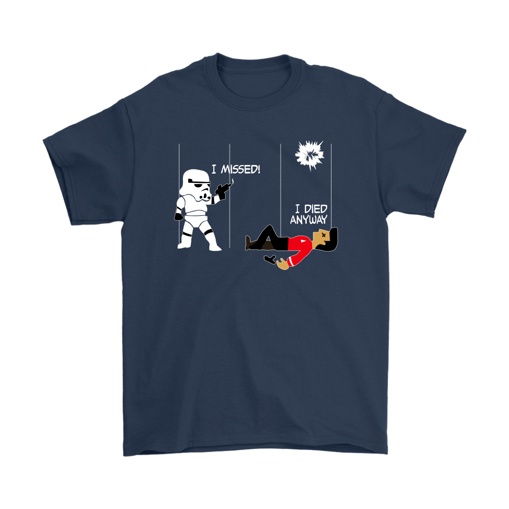 Star Wars Star Trek A Stormtrooper And A Redshirt In A Fight Shirts 3