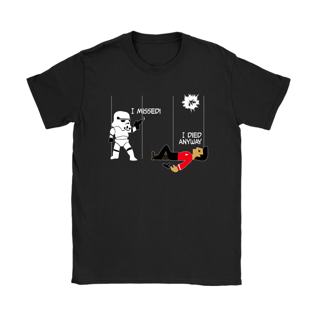 Star Wars Star Trek A Stormtrooper And A Redshirt In A Fight Shirts 7
