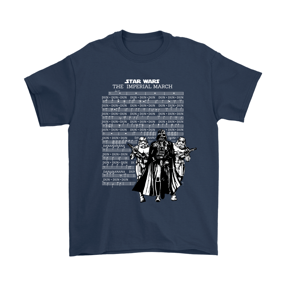 Star Wars The Imperial March Music Sheet Darth Vader Shirts 2