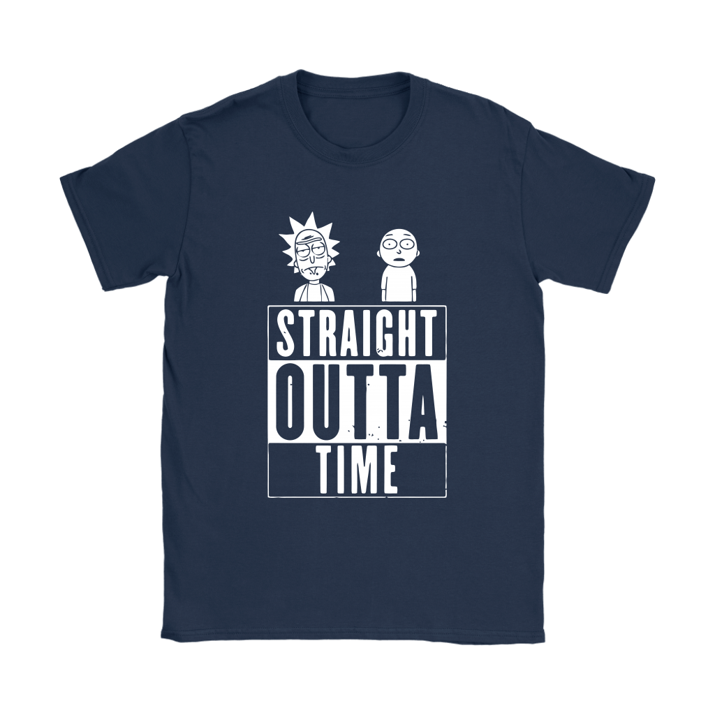 Straight Outta Time Rick And Morty Shirts 9