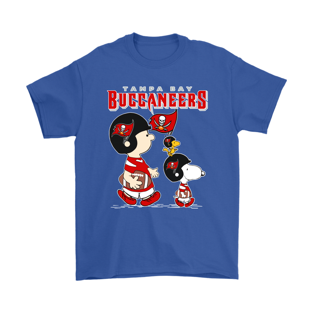 Tampa Bay Buccaneers Let's Play Football Together Snoopy NFL Shirts 5