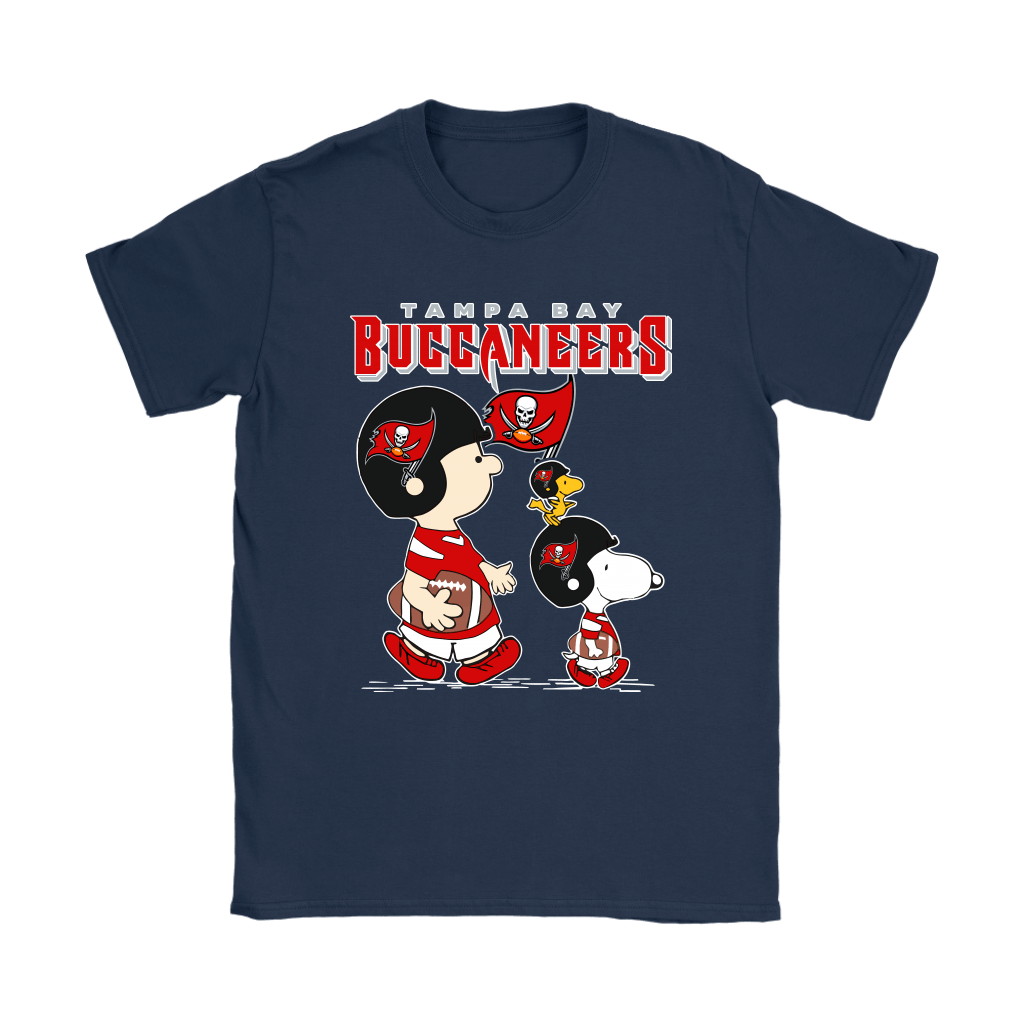 Tampa Bay Buccaneers Let's Play Football Together Snoopy NFL Shirts 9