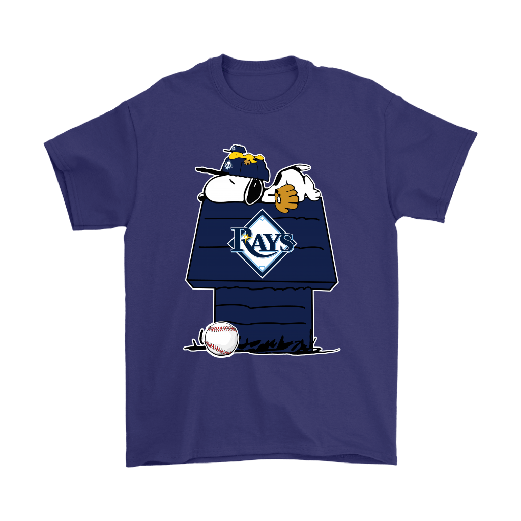 Tampa Bay Rays Snoopy And Woodstock Resting Together MLB Shirts 4