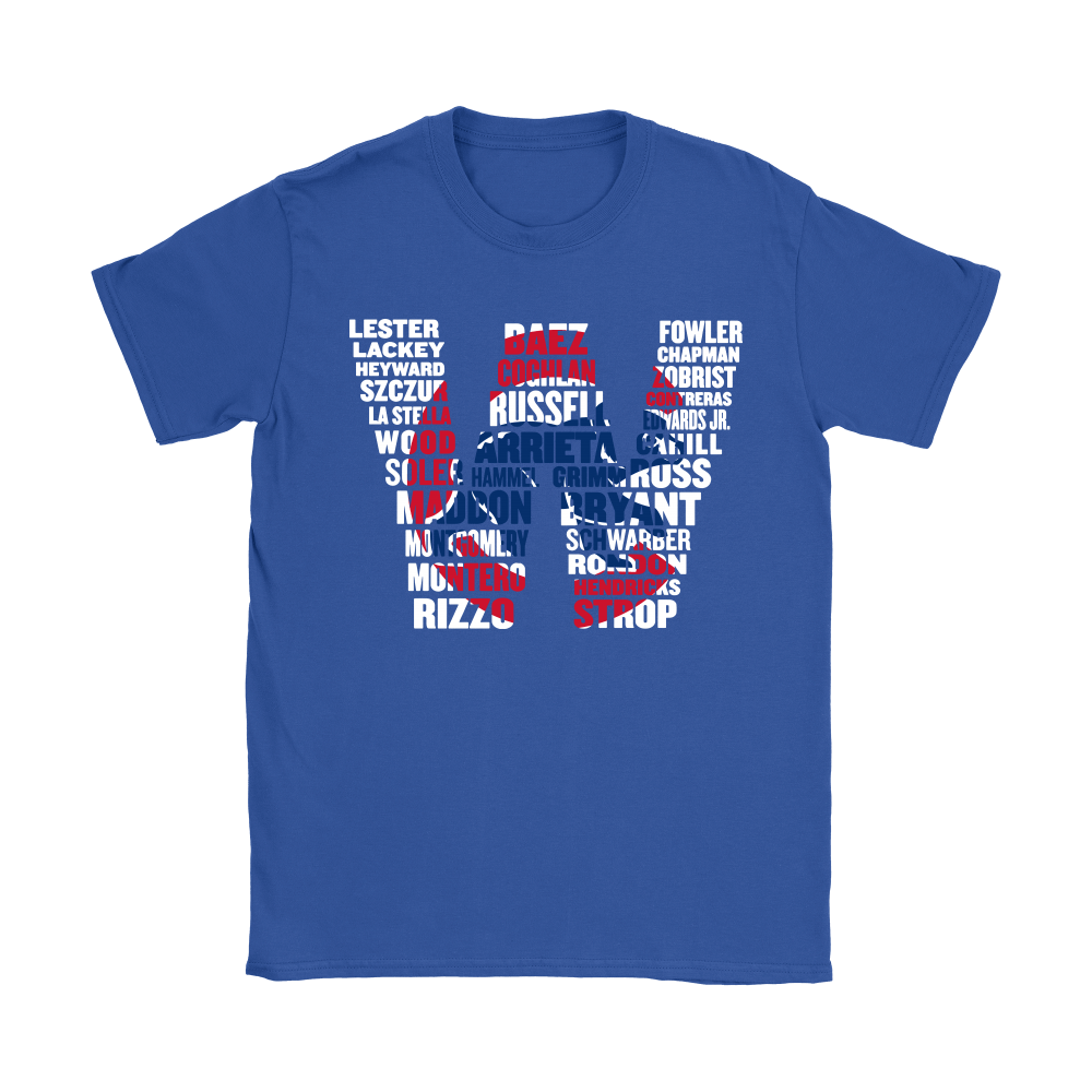 Team Chicago Cubs Players Name Puzzle Cubs Win MLB Shirts 11