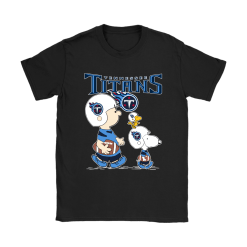 Tennessee Titans Let's Play Football Together Snoopy NFL Shirts 18