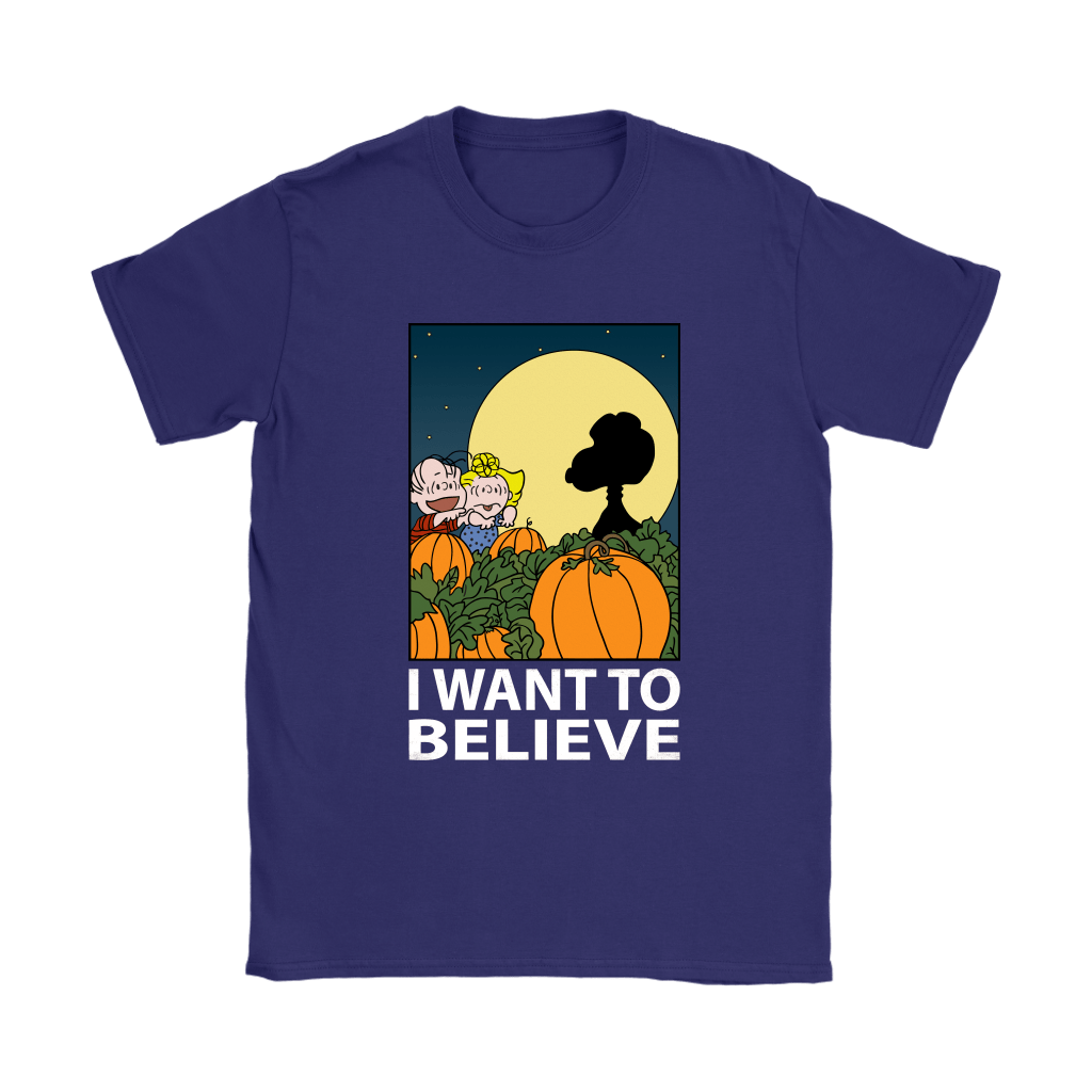 The Great Pumpkin I Want To Believe Halloween Snoopy Shirts 11