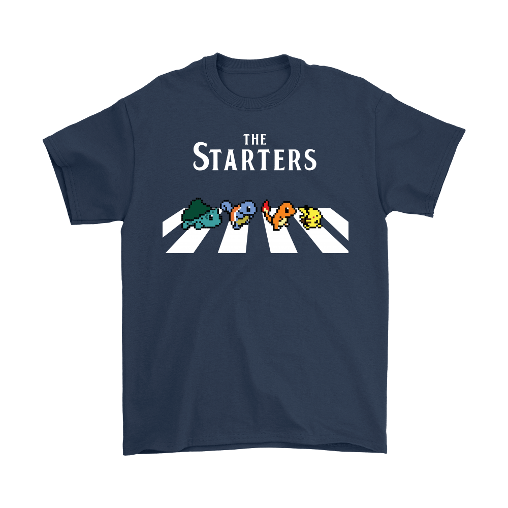 The Starters Abbey Road Pokemon Shirts 3