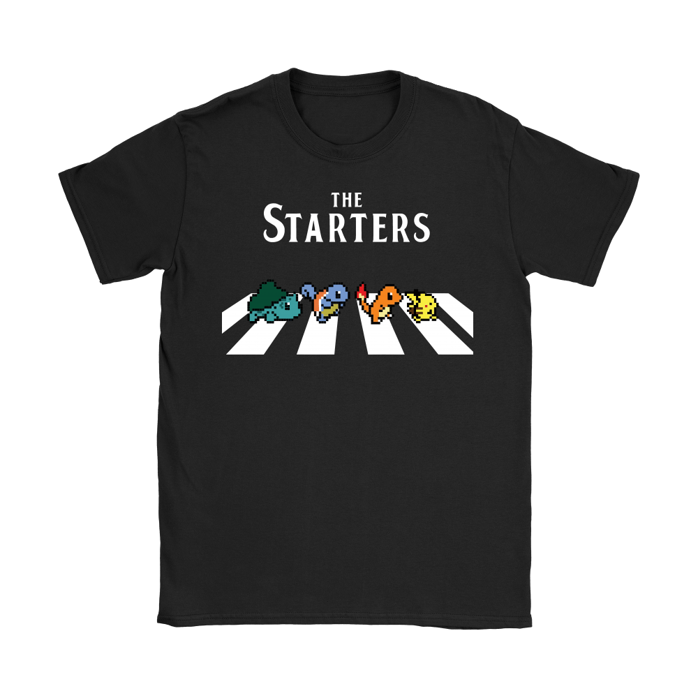 The Starters Abbey Road Pokemon Shirts 8