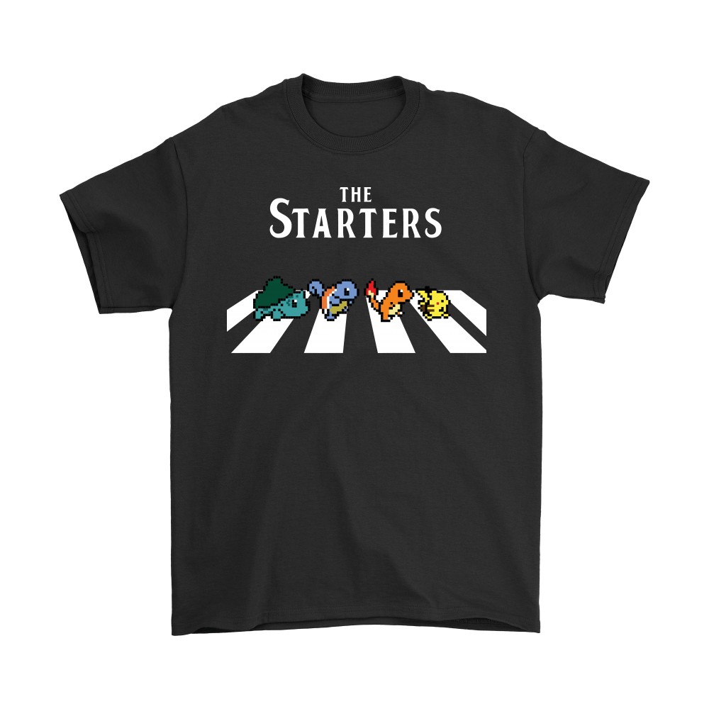 The Starters Abbey Road Pokemon Shirts 1
