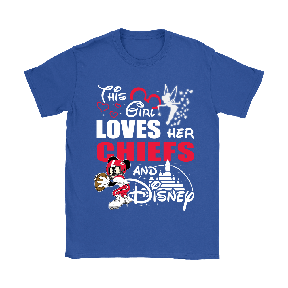 This Girl Loves Her Kansas City Chiefs And Mickey Disney Shirts 12