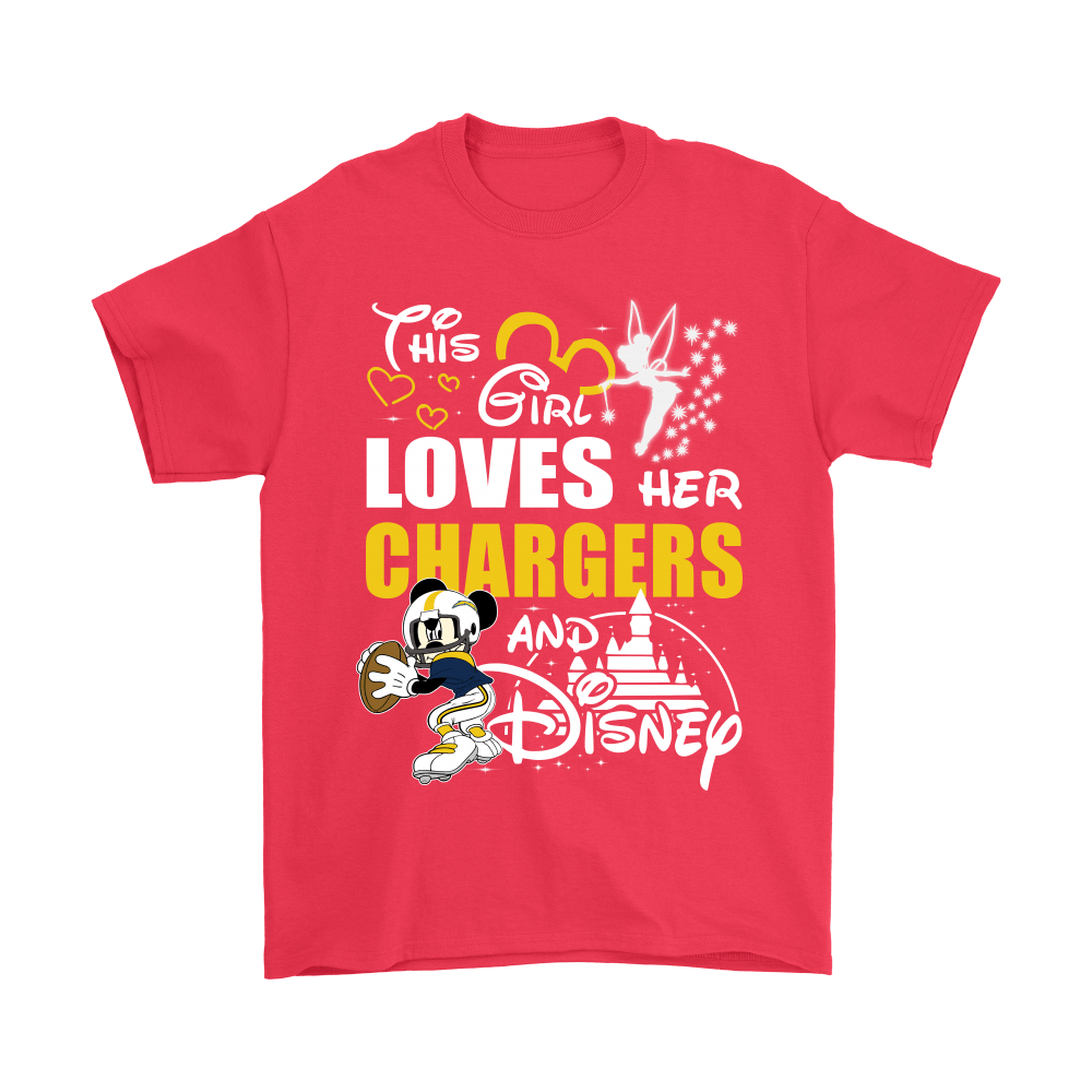 This Girl Loves Her Los Angeles Chargers And Mickey Disney Shirts 5