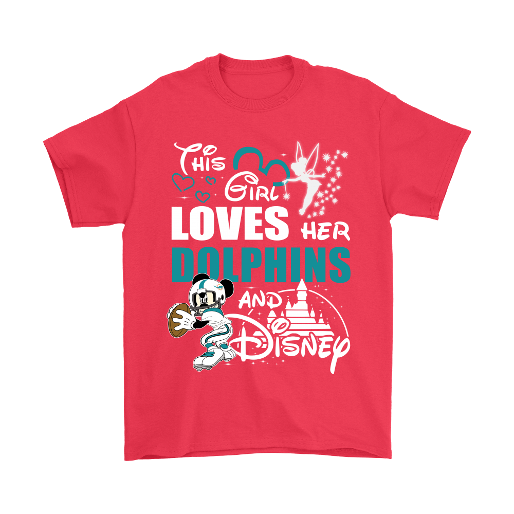This Girl Loves Her Miami Dolphins And Mickey Disney Shirts 5