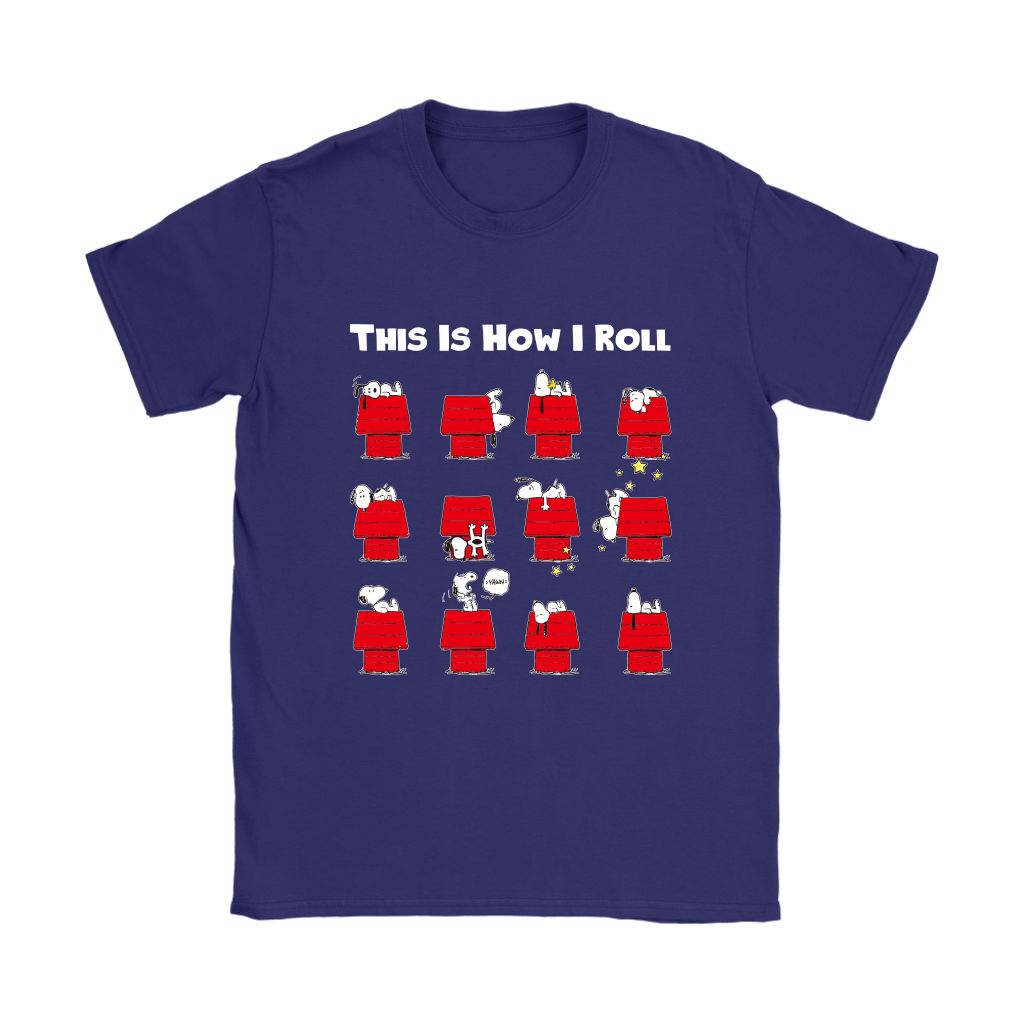 This Is How I Roll Funny Lazy Snoopy Shirts 10