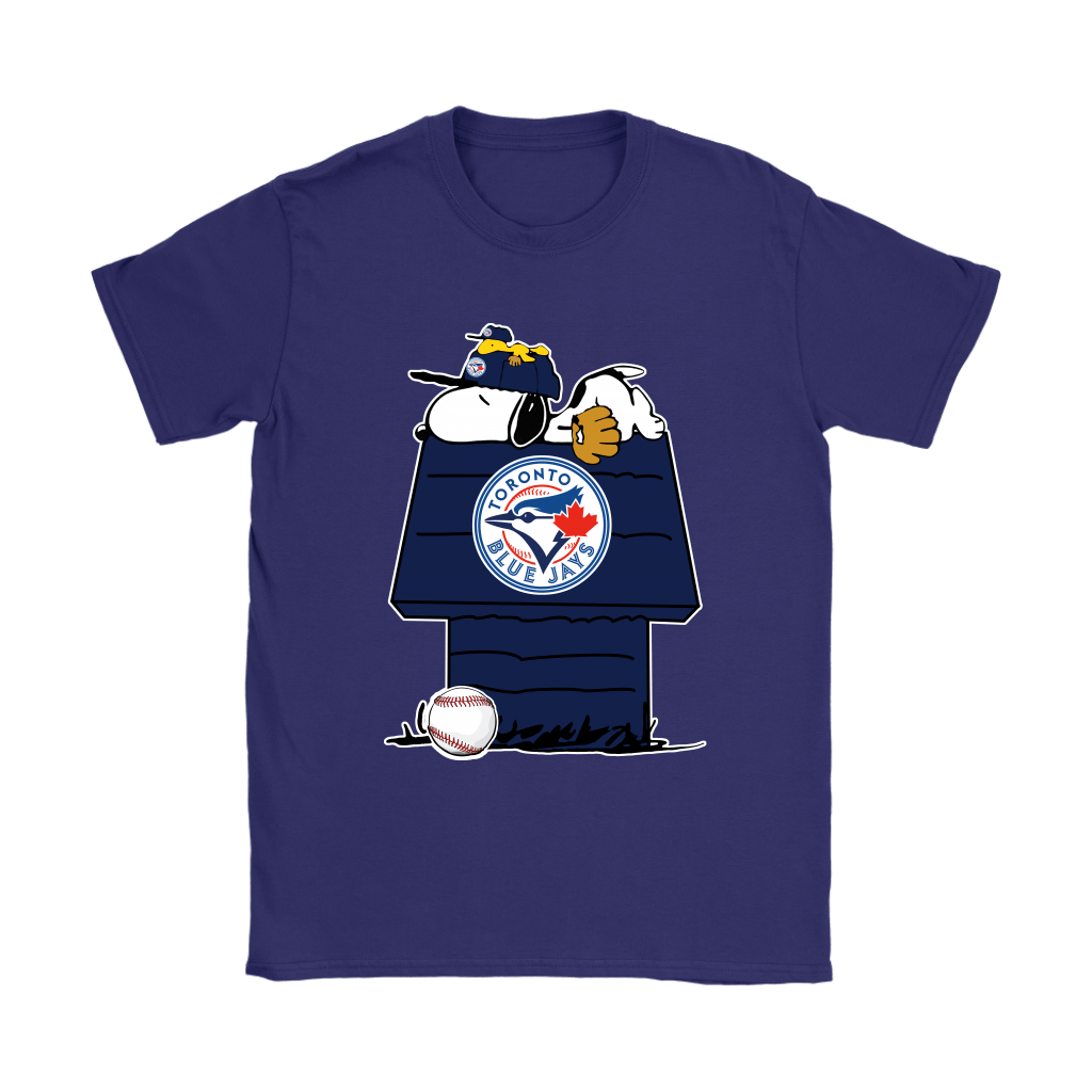 Toronto Blue Jays Snoopy And Woodstock Resting Together MLB Shirts 10
