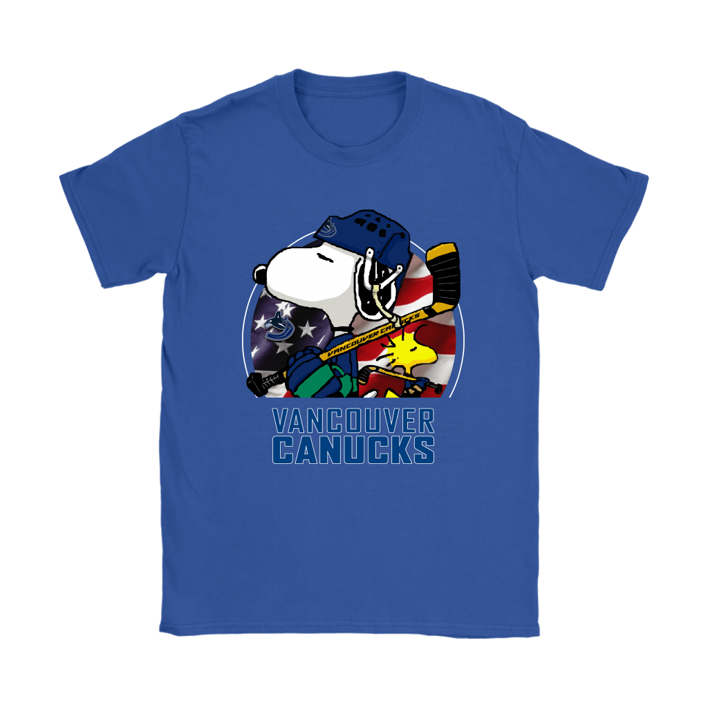 Vancouver Canucks Ice Hockey Snoopy And Woodstock NHL Shirts 11