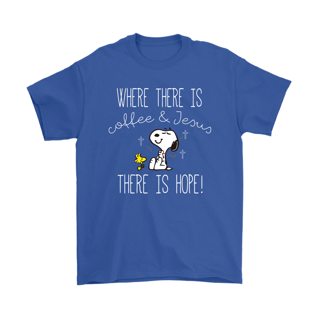 Where There Is Coffee And Jesus There Is Hope Snoopy Shirts 4
