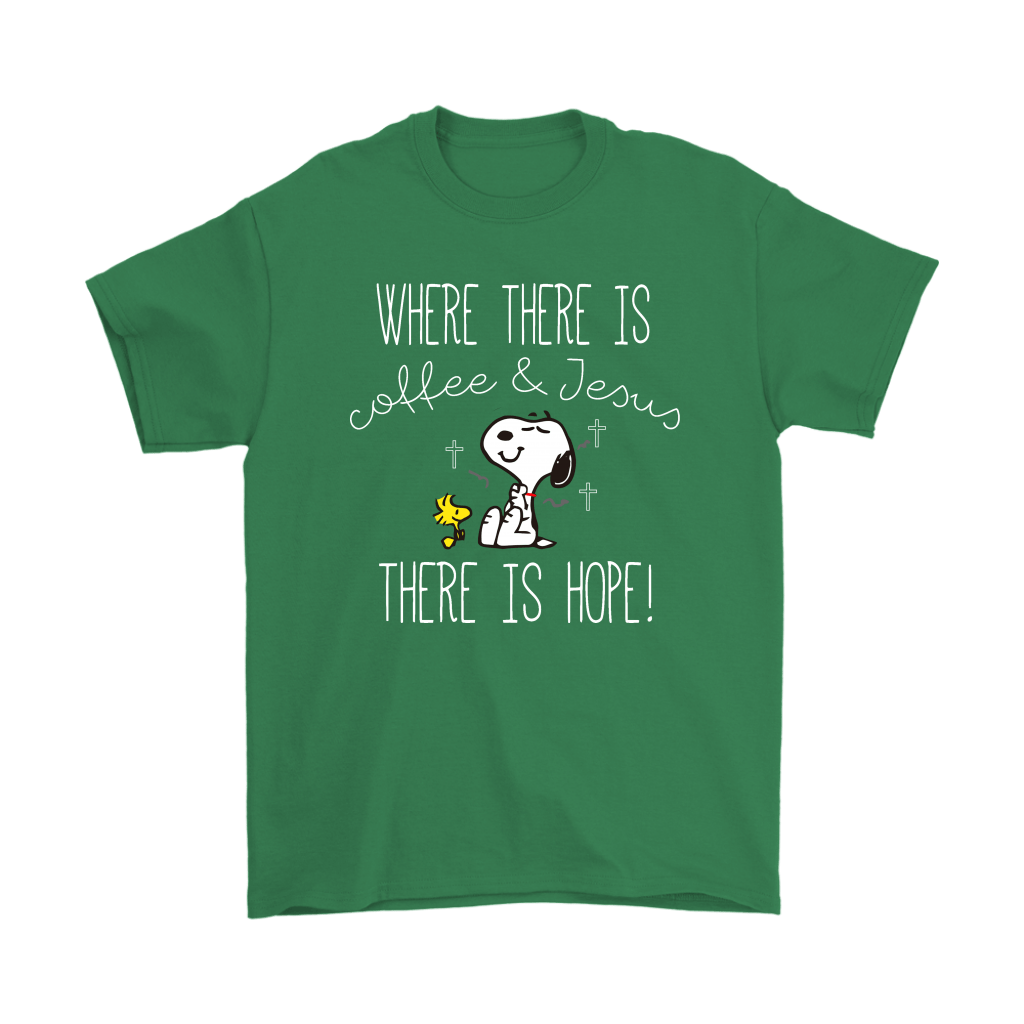 Where There Is Coffee And Jesus There Is Hope Snoopy Shirts 6