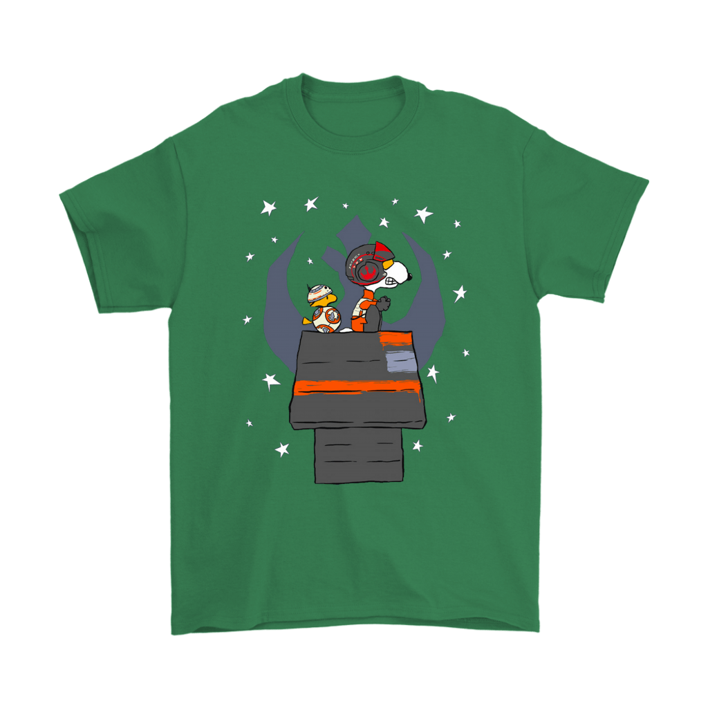 X-Wing Star Wars Fighter As Poe Dameron And BB8 Snoopy Shirts 7