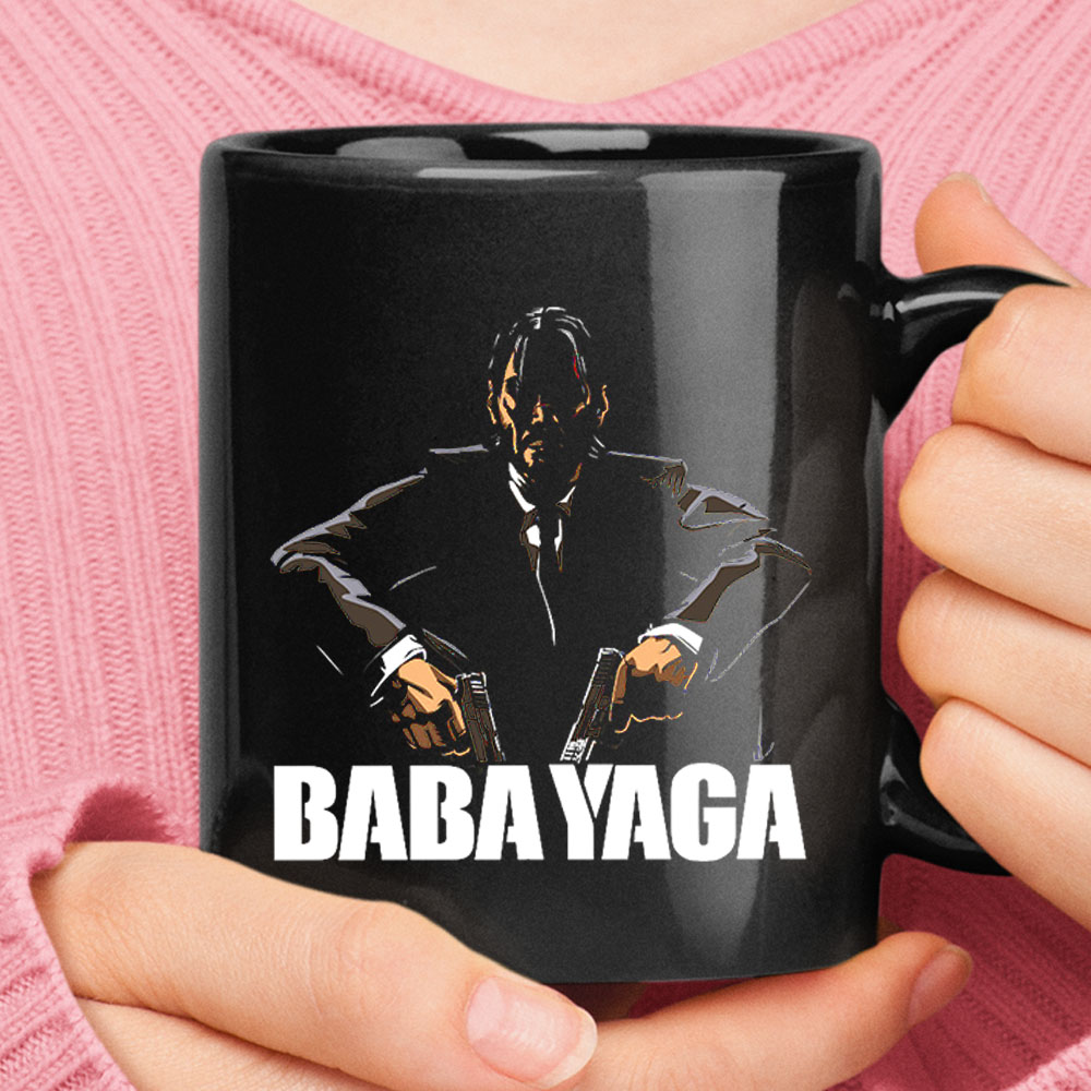 Baba Yaga Dual Gun John Wick In The Dark Black Mug 1