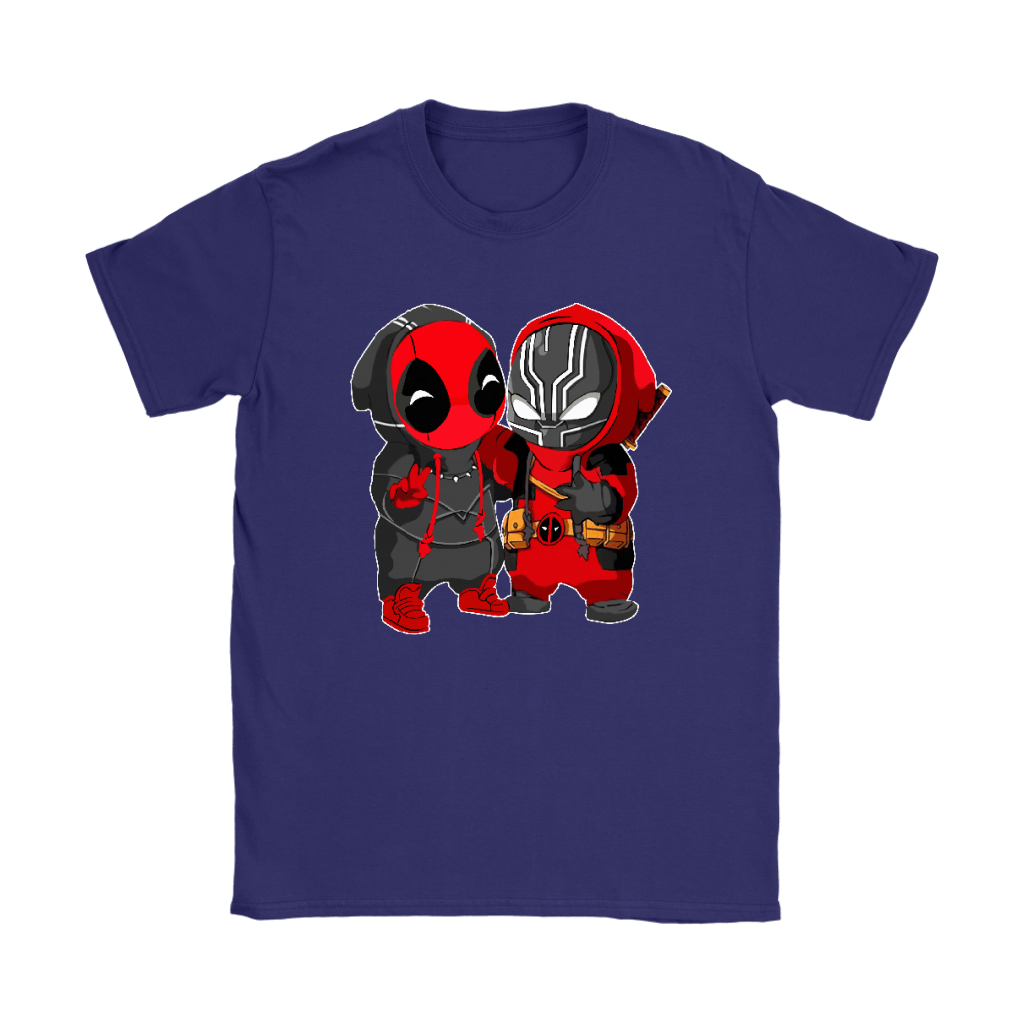 Baby Black Panther And Deadpool Costume Switch Cute Shirts 10