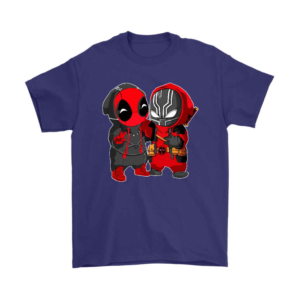 Baby Black Panther And Deadpool Costume Switch Cute Shirts 4