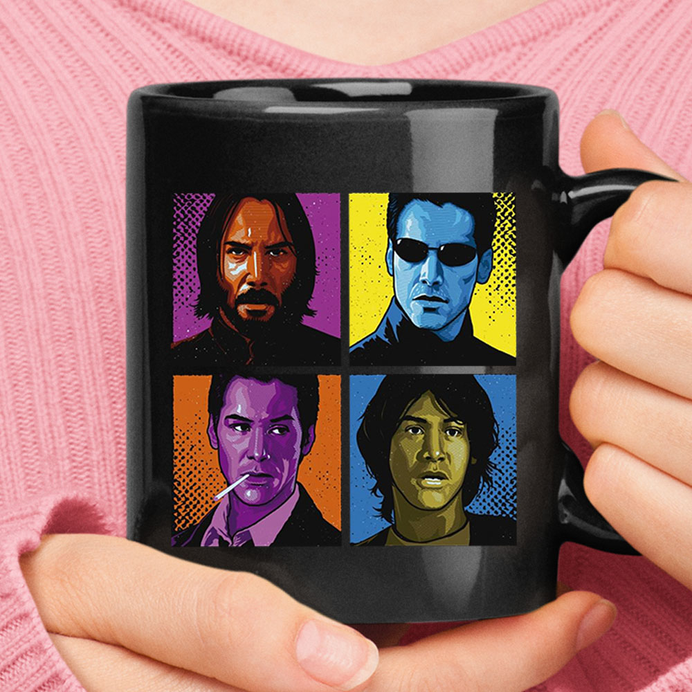 Keanu Reeves John Wick The Matrix Constantine Permanent Record Mug 1