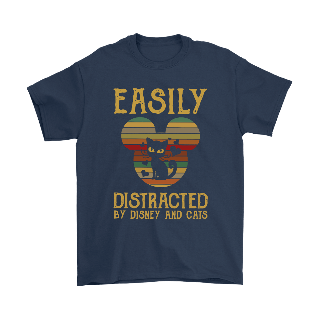 Easily Distracted By Disney And Cats Vintage Shirts 2