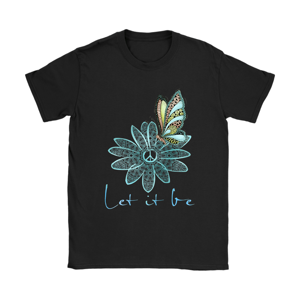 Flower And Butterfly Love And Peace Let It Be The Beatles Shirts 5