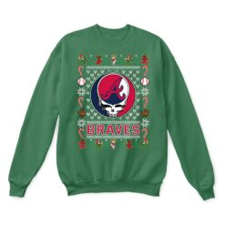 Atlanta Braves x Grateful Dead Christmas Ugly Sweater 8