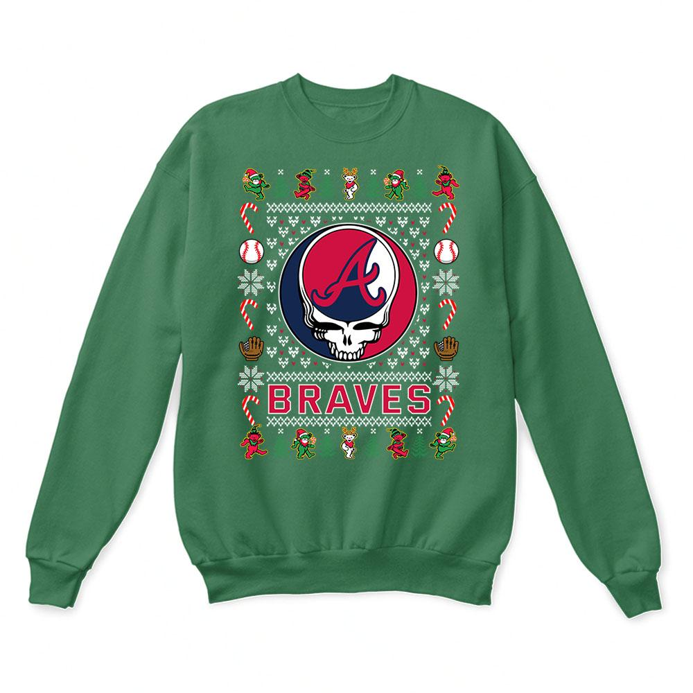 Atlanta Braves x Grateful Dead Christmas Ugly Sweater 2