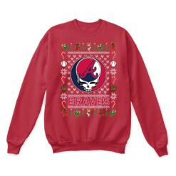 Atlanta Braves x Grateful Dead Christmas Ugly Sweater 11