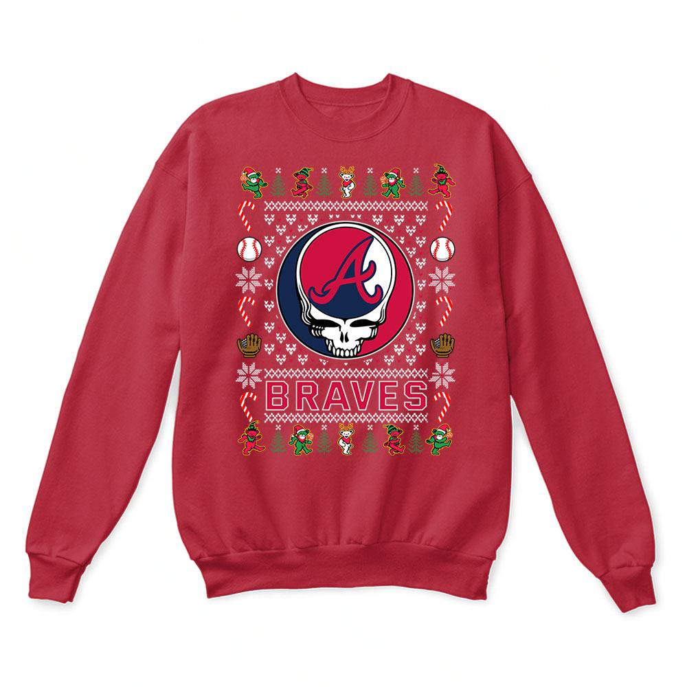 Atlanta Braves x Grateful Dead Christmas Ugly Sweater 5