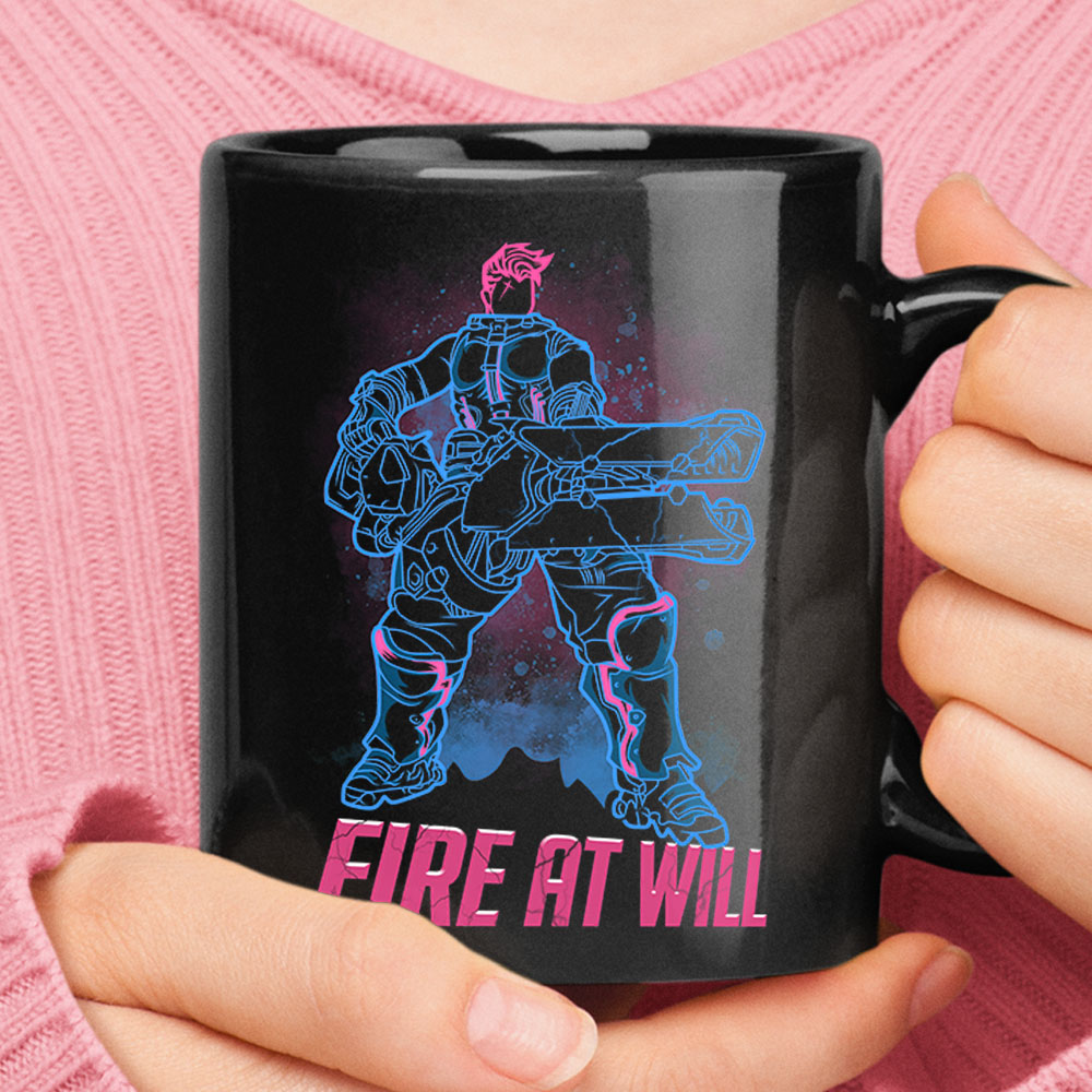 Aleksandra Overwatch fire at will aleksandra zaryanova zarya overwatch mug