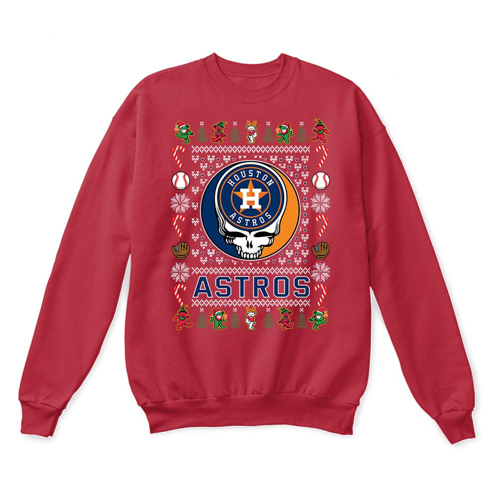 Houston Astros x Grateful Dead Christmas Ugly Sweater 5