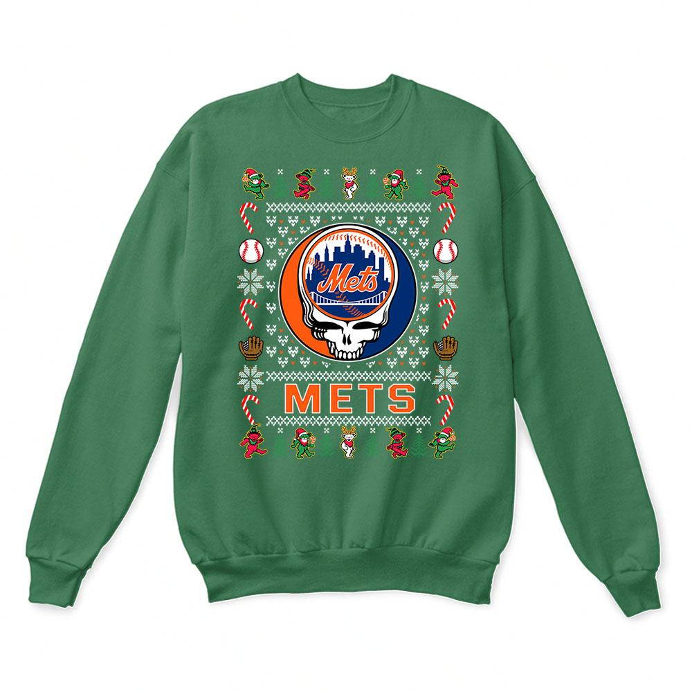 quality design 2cc25 7c697 New York Mets x Grateful Dead Christmas Ugly Sweater