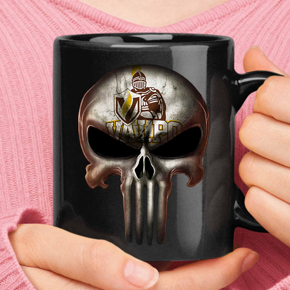 Valparaiso Crusaders The Punisher Mashup NCAA Football Mug 1