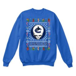 Vancouver Canucks x Grateful Dead Christmas Ugly Sweater 12