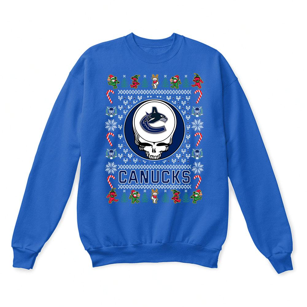 Vancouver Canucks x Grateful Dead Christmas Ugly Sweater 6