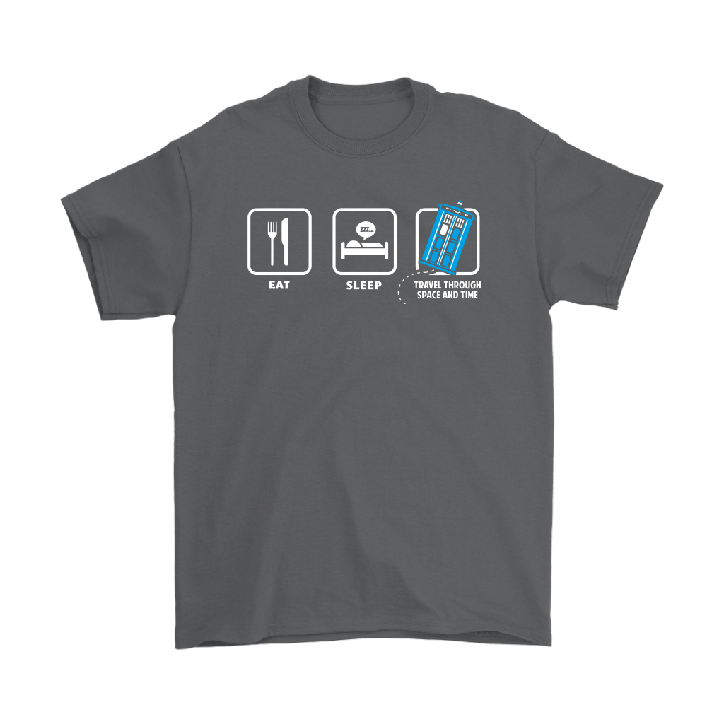 Eat Sleep Travel Through Space And Time Doctor Who Shirts 2