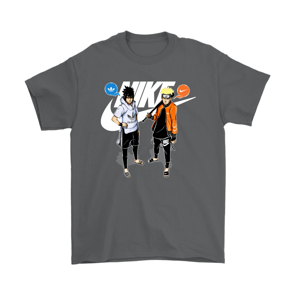 Adidas Sasuke And Nike Naruto Friends Or Enemies Shirts 2