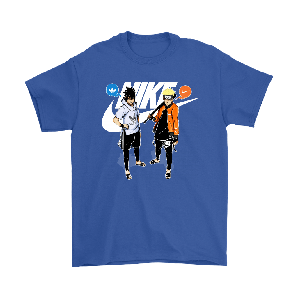 Adidas Sasuke And Nike Naruto Friends Or Enemies Shirts 6