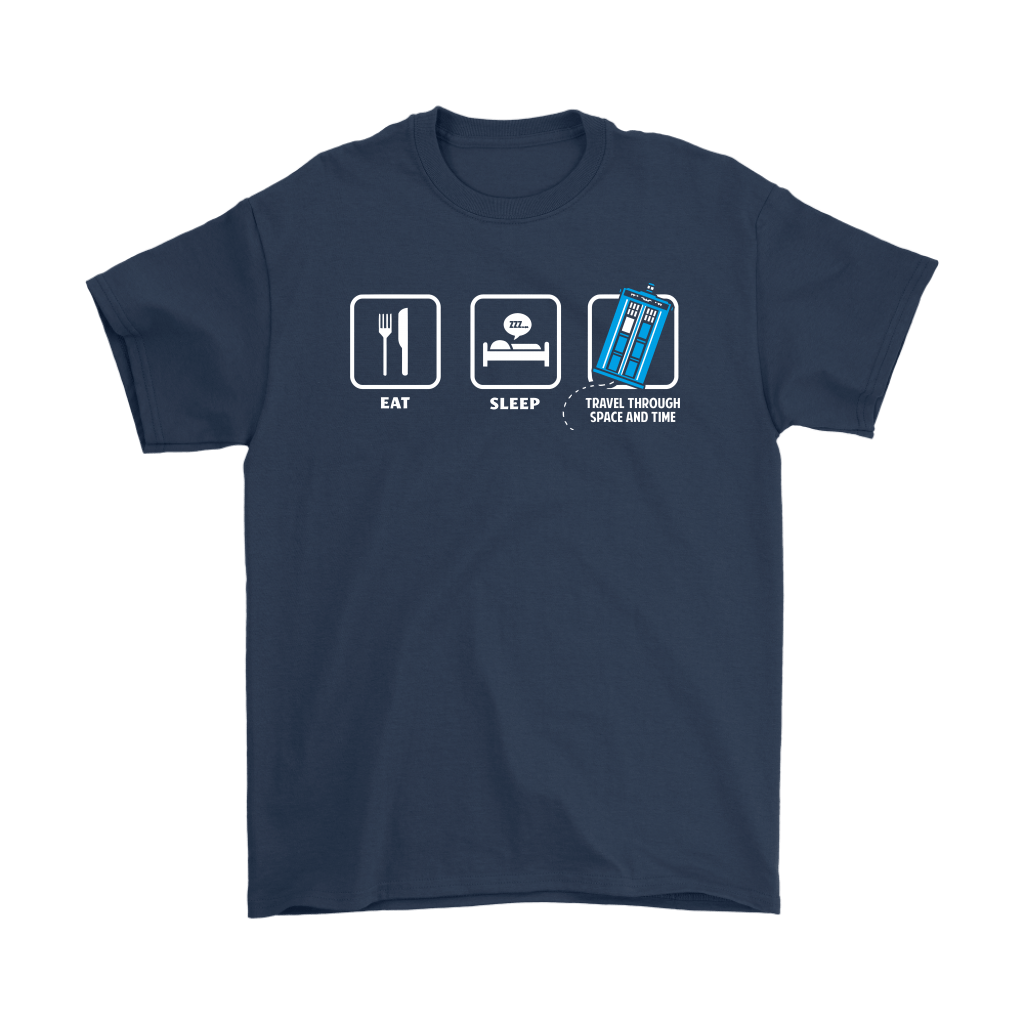 Eat Sleep Travel Through Space And Time Doctor Who Shirts 3