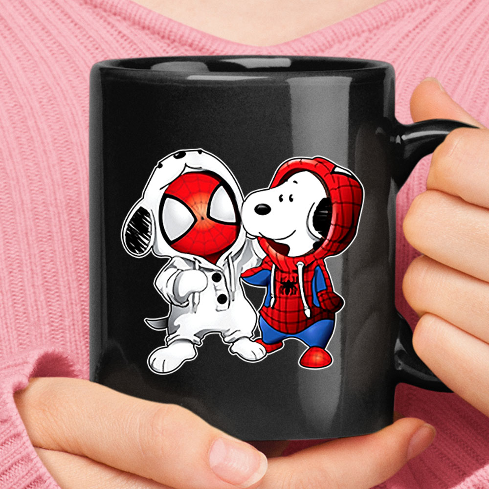 Spider-Man And Snoopy Costumes Exchange Mug 1