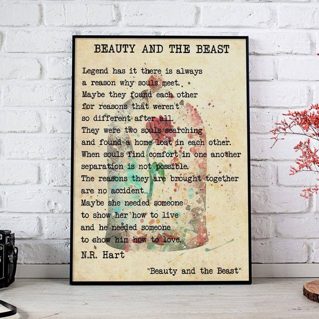 To Show Him How To Love Beauty And The Beast Poem Posters 1