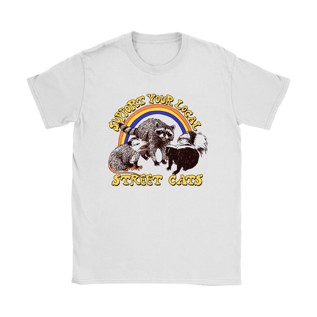 Support Your Local Street Cats Trash Panda Skunk Wild Animal Shirts 14